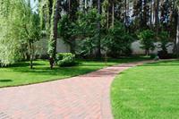Клинкерное мощение. Садовые дорожки и площадки из клинкера.