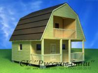Проект деревянного дома с баней для дачи