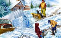 Благоустройство придомовой территории. Зимняя уборка