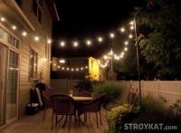 Как организовать освещение террасы своими руками