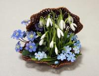 Керамическая флористика-цветы из глины