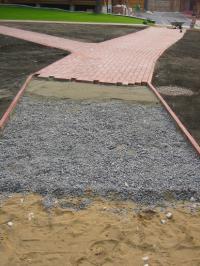 Пескоцементная смесь для укладки тротуарной плитки