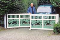 Строим художественные деревянные ворота